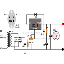 0 to 12 volt adjule dc power supply circuit diagram image