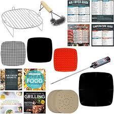 Air Fryer Rack Accessories Compatible With Power Airfryer Oven Maxi Matic Habor Gowise Dash Chefman Paula Deen More Paper Liners Food
