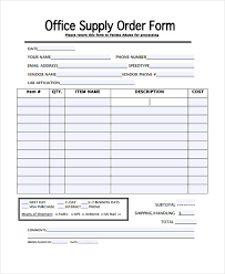 29 Blank Order Templates | Free & Premium Templates