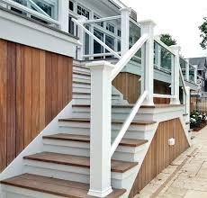 backyard wood stairs outdoor stair railing outside wood handrails for stairs google search deck stair railing