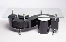 black rectangle coffee table. Miami S Wave Glass Coffee Table Contemporary Modern Rectangle BLACK Black