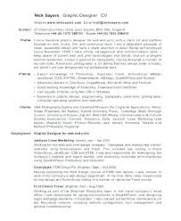 Freelance Graphic Designer Resume Sample Freelance Graphic Design