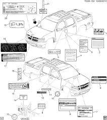 Infl Rest Warning Light Gmc Sierra 1500 03 43 53 Bodystyle 2wd Ck 36 Labels