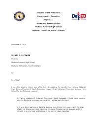 Intent Letter Sample For School Letter Of Intention
