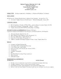 My Resume Sample Best of Experienced Radiologic Technologist Resume Sample For Best Ideas