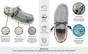 Hey Dude Shoes Size Chart Hey Dude Mens Wally Woven Loafer