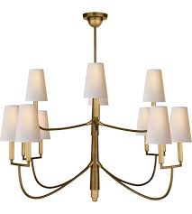 visual comfort tob5017hab np thomas obrien farlane 12 light 48 inch hand rubbed antique brass chandelier ceiling light in none