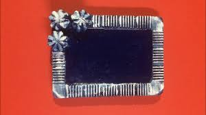dly photo frame from plaster of paris