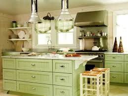 Light Green Painted Kitchen Cabinets With Yellow Pale Interesting Charming  cabin remodeling Pale Green Kitchen Cabinets