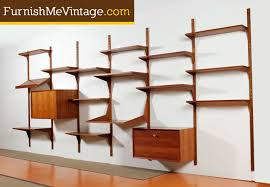 cado danish teak wall mount shelving