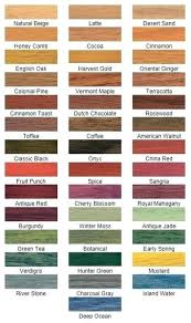 Saman Water Based Stain Color Chart Water Based Stain Colors Iaskedonline Club
