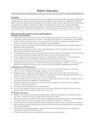 Objectives For Teaching Resume Preschool Teacher Career Objective