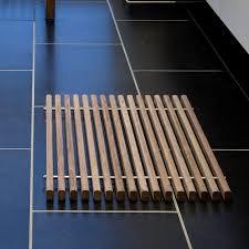 ideas teak bath mat