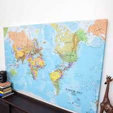 large world map poster uk refrence a3 laminated counties new framed