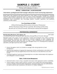 Retail Sales Manager Resume Samples Qualifications Profile Retail ...