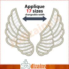 Angel Wings Applique Design Pin On Misc Applique Designs