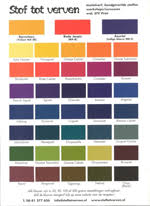 Procion Dye Color Mixing Chart Stof Tot Verven Basis Set 2 Tracking Down Procion Mx