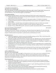 Resume Property Manager Nfcnbarroom Com