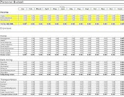Budgeting Spreadsheet Templates Household Budget Template Accounts
