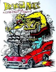 amazon com rat fink 57 chevy beyond nuts hot rod decal
