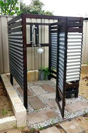 nobby design outdoor shower enclosure ideas outside showers plans metal exteriors excellent of
