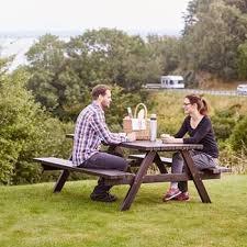 picnic bench 1700x1660x705 mm brown pine