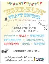 crafts classes for kids flyers adult workshops funky art house