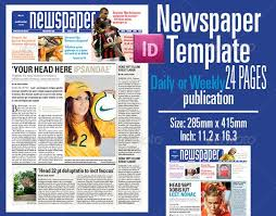 Newspaper Front Page Template Indesign Indesign Newspaper Template Download Under Fontanacountryinn Com