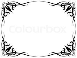 simple frame tattoo. Exellent Simple Simple Black Tattoo Ornamental Decorative Frame  Stock Vector Colourbox On Frame Tattoo P