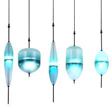 blue glass pendant modern led art grant glass pendant lamps design flow t lake blue glass
