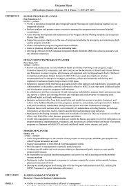 Human Service Resume Program Planner Resume Samples Velvet Jobs Health And Human Services 24