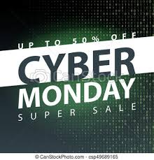 Cyber Monday Super Sale Poster Clearance Mega Discount Flyer Template Big Special Offer Season Vector Digital Shop Banner Illustration