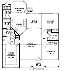 image of 3 bedroom ranch style house plans wide