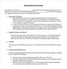 10+ Memorandum Of Lease Agreement – Samples, Examples & Format ...