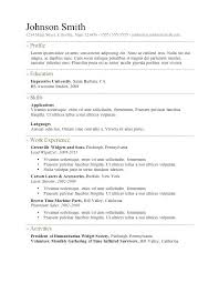 Simple Resume Outline Free Basic Resume Template Free Printable Fill ...