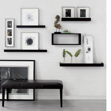 dining room floating shelves