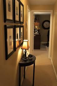 narrow black console table. Furniture. Minimalist Narrow Black Console Table With Lamp For Entryway Design Idea. Pretty
