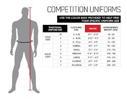 Century Martial Arts Uniform Size Chart Size Chart Competition Uniforms Century Martial Arts