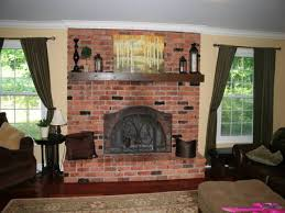 enchanting decorating ideas for brick fireplace wall as well as living room decorating ideas with red brick fireplace