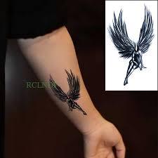 Vodotěsný Dočasné Tetování Samolepky Angel Wing Falešné Tatto Flash