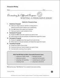 Persuasive writing training