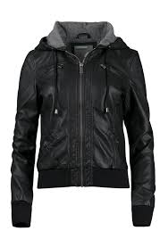 las hooded er jacket black hi res