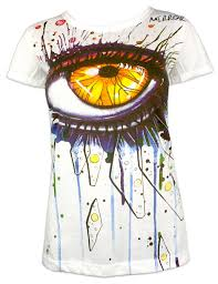 In The Shirt Mirror Women S T Shirt In The Eye Of Art Size S M L Psychedelic