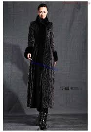 2016 new faux mink fur coat fur collar maxi trench overcoat autumn las gray casacos femininos