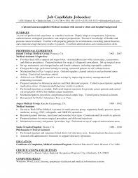 Resume Ob Gyn Medical Assistant Experience Resumes Objectives For