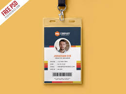 company id card templates creative office identity card template psd psdfreebies com