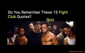 Fight Club Quotes Classy Do You Remember These 48 Fight Club Quotes Quiz For Fans