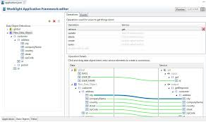 The Data Object tab of the IBM Worklight Application Framework editor