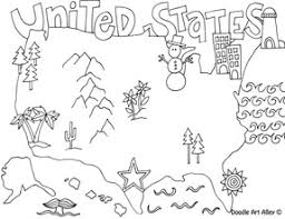 Small Picture States Coloring Pages Doodle Art Alley