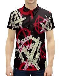 Рубашка Поло с полной запечаткой <b>Анархия</b> #2064246 от ZoZo